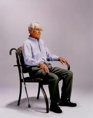 old man in chair